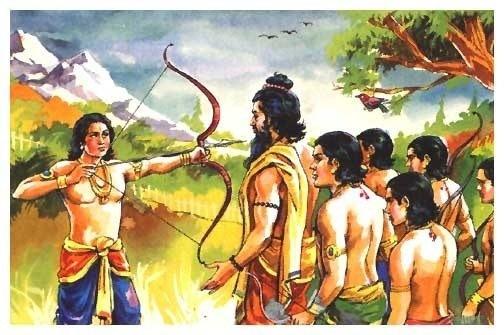 Arjun-bow-and-arrow-shooting-eyeball