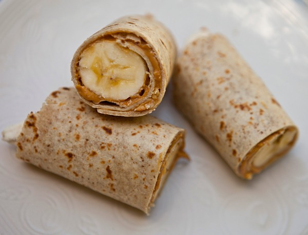 Banana Peanut Butter Roti Bites